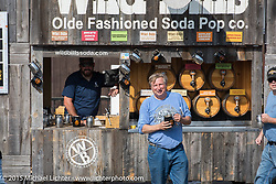 Event director Charlie St. Clair in the Weirs Beach area during Laconia Motorcycle Week. Laconia, NH, USA. June 13, 2015.  Photography ©2015 Michael Lichter.