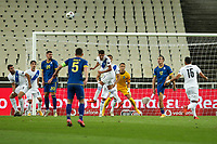 ATHENS, GREECE - OCTOBER 14: Action during the UEFA Nations League group stage match between Greece and Kosovo at OACA Spyros Louis on October 14, 2020 in Athens, Greece. (Photo by MB Media)