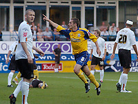 Photo: Leigh Quinnell.<br /> Luton Town v Southampton. Coca Cola Championship.<br /> 09/08/2005. Matt Oakley scores for Southampton