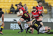 Luke Romano of Canterbury during the Mitre 10 Cup rugby match between the Wellington Lions & Canterbury at Westpac Stadium, Wellington. Friday 23rd August 2019. Copyright Photo: Grant Down / www.Photosport.nz
