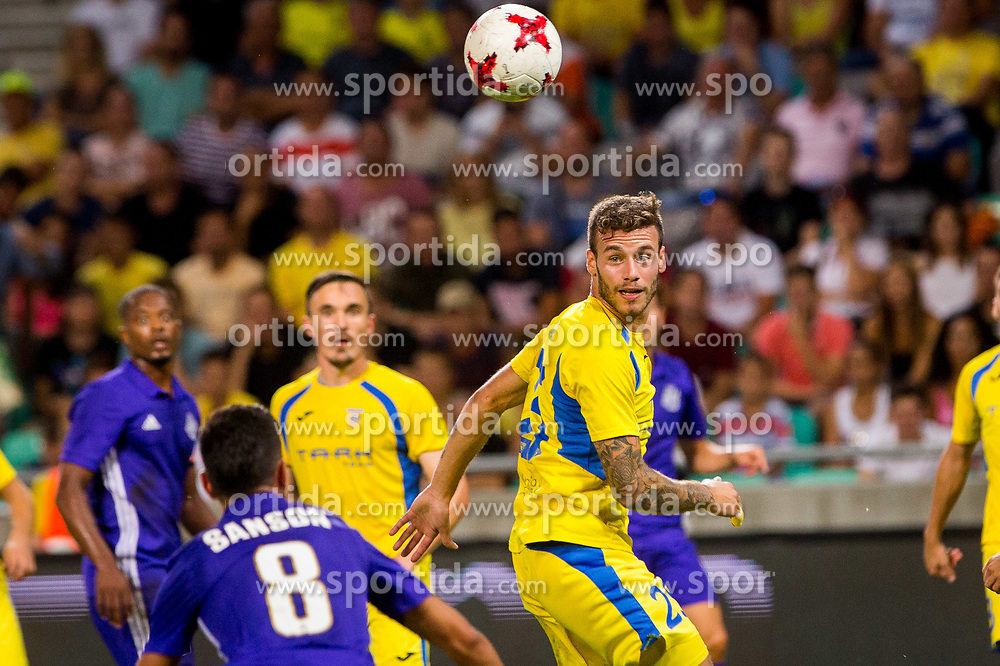 Miha Blazic of NK Domzale during football match between NK Domzale and Olympique de Marseille in First game of UEFA Europa League playoff round, on August 17, 2017 in SRC Stozice, Ljubljana, Slovenia. Photo by Ziga Zupan / Sportida