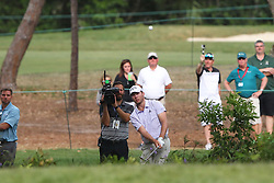 March 11, 2018 - Palm Harbor, FL, U.S. - PALM HARBOR, FL - MARCH 11: Sam Burns attempts to chip back onto the 16th green after pushing his approach shot far left during the final round of the Valspar Championship on March 11, 2018, at Westin Innisbrook-Copperhead Course in Palm Harbor, FL. (Photo by Cliff Welch/Icon Sportswire) (Credit Image: © Cliff Welch/Icon SMI via ZUMA Press)