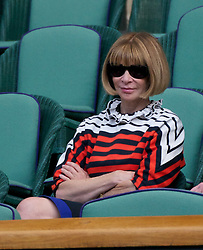 29.06.2011, Wimbledon, London, GBR, ATP World Tour, Wimbledon Tennis Championships, im Bild Anna Wintour, OBE, British-born editor-in-chief of American Vogue magazine, watches the actoon during the Gentlemen's Singles Quarter-Final match on day nine of the Wimbledon Lawn Tennis Championships at the All England Lawn Tennis and Croquet Club. EXPA Pictures © 2011, PhotoCredit: EXPA/ Propaganda/ David Rawcliffe +++++ ATTENTION - OUT OF ENGLAND/UK +++++