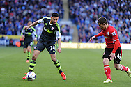 Stoke city's Oussama Assaidi in action.Barclays Premier league match, Cardiff city  v Stoke city at the Cardiff city stadium in Cardiff, South Wales on Saturday 19th April 2014. pic by Andrew Orchard, Andrew Orchard sports photography,
