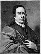Count Nicolaus Ludwig von Zinzendorf (1700-1760), German theologian, pupil of Francke and convert to pietism. Revived the Moravian Church, and aided its establishment in America. Wood engraving.
