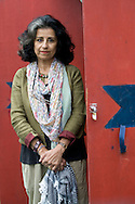 Acclaimed Egyptian writer Ahdaf Soueif, pictured at the Edinburgh International Book Festival where she talked about her experiences during the 'Arab Spring' popular uprising. The three-week event is the world's biggest literary festival and is held during the annual Edinburgh Festival. The 2011 event featured talks and presentations by more than 500 authors from around the world..