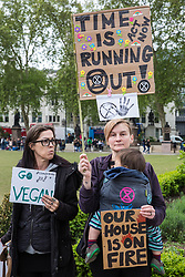 London, UK. 3 May, 2019. Students take part in the Global Strike for the Future in solidarity with the Fridays for Future climate strikes to call for urgent action against climate change by the British government.