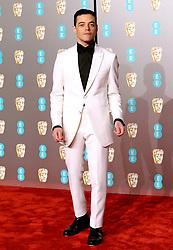 Rami Malek attending the 72nd British Academy Film Awards held at the Royal Albert Hall, Kensington Gore, Kensington, London.
