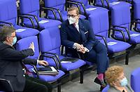 DEU, Deutschland, Germany, Berlin, 28.01.2021: Michael Grosse-Brömer, Erster Parlamentarischer Geschäftsführer CDU/CSU, und Philipp Amthor (CDU) in der Plenarsitzung im Deutschen Bundestag.