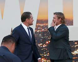 July 22, 2019 - Los Angeles, CA, USA - LOS ANGELES - JUL 22:  Leonardo DiCaprio, Brad Pitt at the ''Once Upon a Time in Hollywood'' Premiere at the TCL Chinese Theater IMAX on July 22, 2019 in Los Angeles, CA (Credit Image: © Kay Blake/ZUMA Wire)