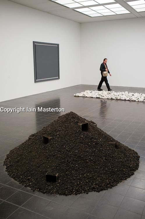 Modern art sculpture at Kunsthalle in Hamburg Germany