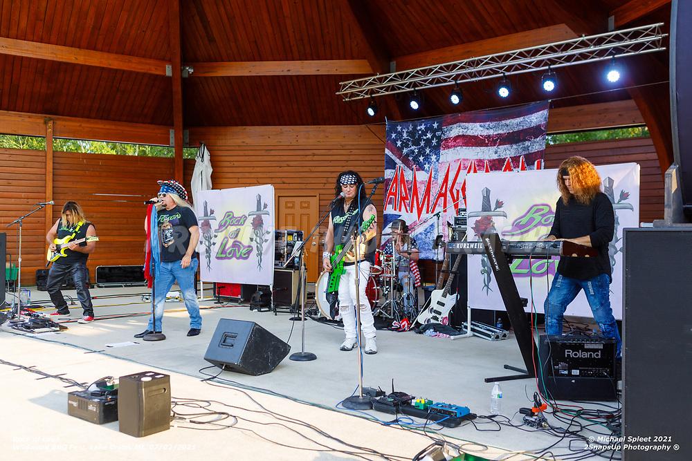 LAKE ORION, MI, JULY 03, 2021: Rock Of Love,   Wildwood BBQ Fest at Wildwood Amphitheater, Lake Orion, MI, 07/03/2021