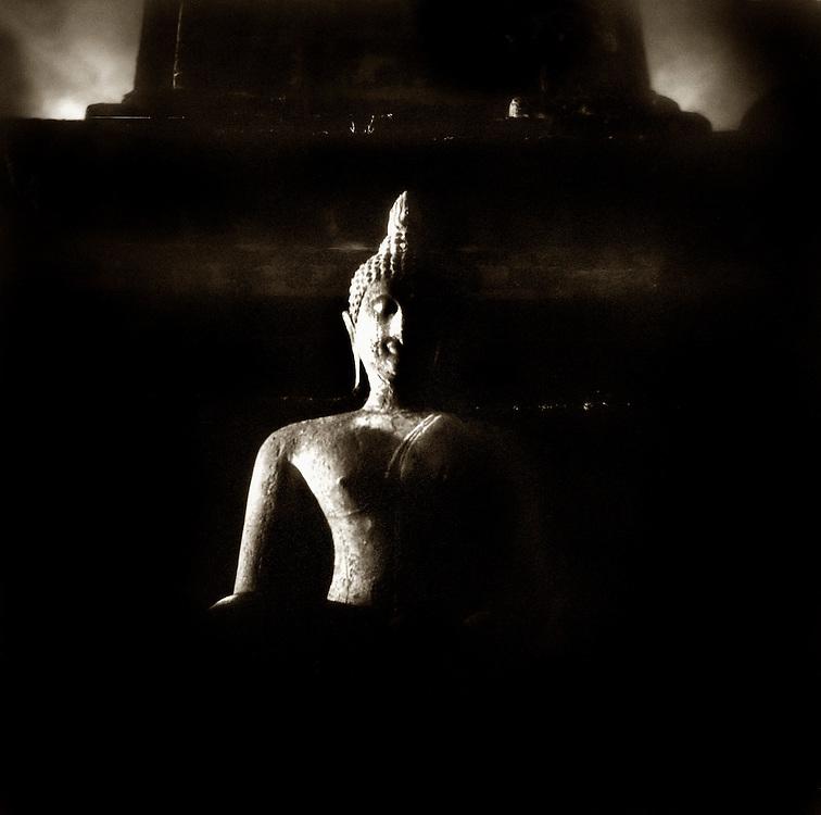 Buddha at Sunset - Wat Mahathat- Sukothai, Thailand