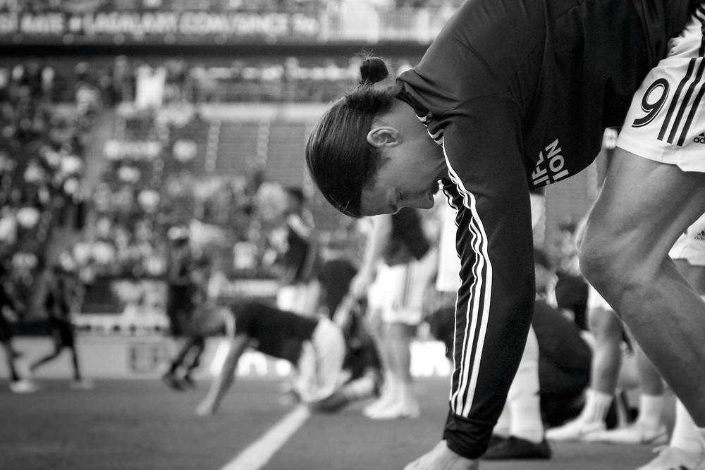 Zlatan Ibrahimovic. Photos taken in the summer of 2018 for the LA Galaxy home games against D.C. United, Minnesote United, Colorado Rapids and LAFC. Working with head photographer Rob Mora. Major League Soccer. ©justinalexanderbartels.com