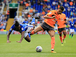 Tiago Ilori of Reading forces Jacques Maghoma of Birmingham City off the ball - Mandatory by-line: Paul Roberts/JMP - 26/08/2017 - FOOTBALL - St Andrew's Stadium - Birmingham, England - Birmingham City v Reading - Sky Bet Championship