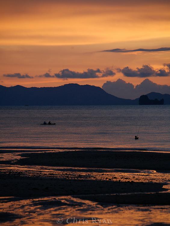 Sunset on Phang Nga Bay/Andaman Sea, Thailand.