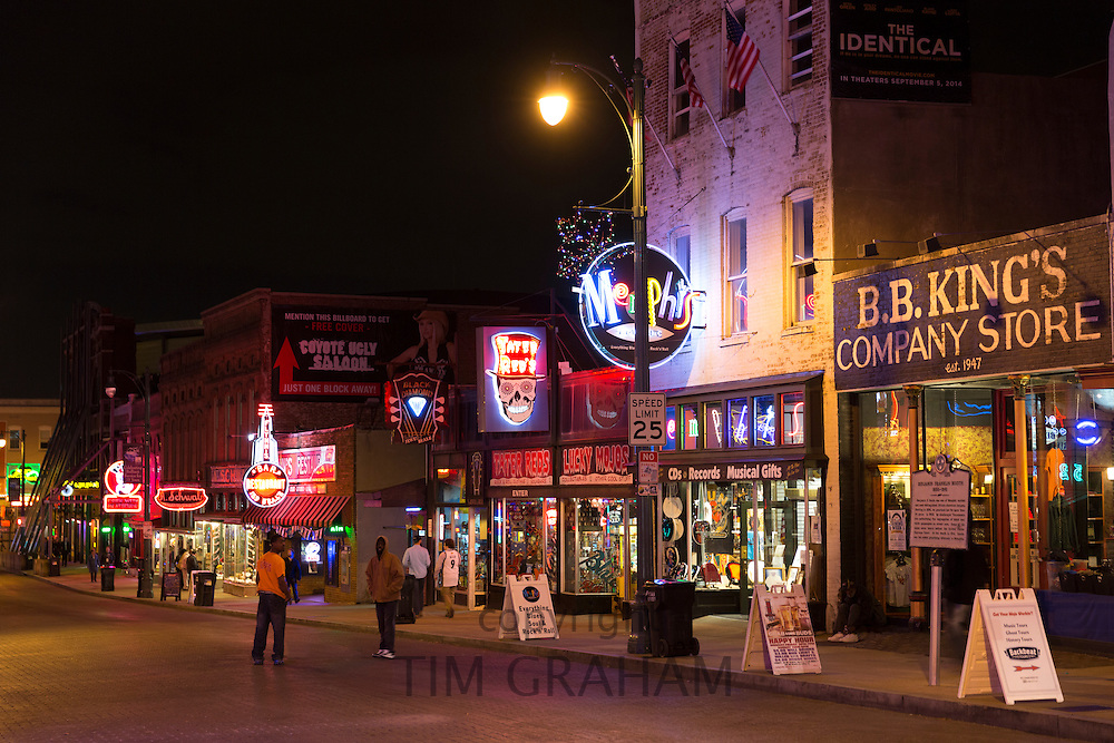BB King Store music venues in Beale Street entertainment district famous for Rock and Roll and Blues, Memphis, Tennessee