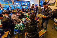 A Tibetan tea house, Old Lhasa, Tibet (Xizang), China.