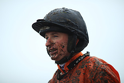 Jockey Tom O'Brien after the JCB Triumph Trial Juvenile Hurdle during day one of the November Meeting at Cheltenham Racecourse, Cheltenham