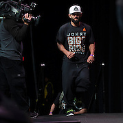 DALLAS, TX - MARCH 13:  Johny Hendricks walks towards the scale during the UFC 185 weigh-ins at the Kay Bailey Hutchison Convention Center on March 13, 2015 in Dallas, Texas. (Photo by Cooper Neill/Zuffa LLC/Zuffa LLC via Getty Images) *** Local Caption *** Johny Hendricks