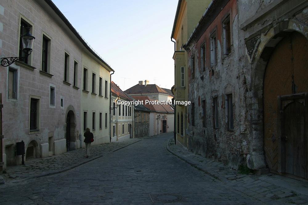 Desolated street in Bratislava, Slovakia