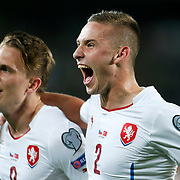 Czech Republic's Borek Dockal (L) celebrate his goal with team mate during their UEFA Euro 2016 qualification Group A soccer match Turkey betwen Czech Republic at Sukru Saracoglu stadium in Istanbul October 10, 2014. Photo by Aykut AKICI/TURKPIX