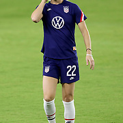 ORLANDO, FL - JANUARY 22:  Kristie Mewis #22 of United States is seen in a game against Colombia at Exploria Stadium on January 22, 2021 in Orlando, Florida. (Photo by Alex Menendez/Getty Images) *** Local Caption *** Kristie Mewis