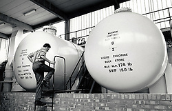 Church Wilne reservoir & water treatment works, Nottingham UK 1988