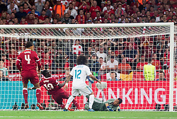 Sadio Mané of Liverpool vs Keylor Navas of Real Madrid during the UEFA Champions League final football match between Liverpool and Real Madrid at the Olympic Stadium in Kiev, Ukraine on May 26, 2018.Photo by Sandi Fiser / Sportida