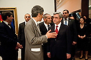 MATHEW GALE; Serzh Sargsyan PRESIDENT OF ARMENIA,  Joint opening reception for the  Van Doesburg and Arshile Gorky exhibitions. Afterwards a dinner for the Gorki exhibition. Tate Modern. London. 9 February 2010