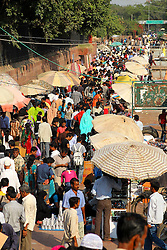 The market outside the Jama Masjid mosque in Delhi India.  The Commonwealth Games are being held in Delhi India between the 3rd and 14th October 2010..Photoby:  Ron Gaunt/SPORTZPICS