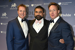 LTR Henry Beckwith, Carl Jani and Piers Beckwith at the Boodles Boxing Ball, in association with Argentex and YouTube in Support of Hope and Homes for Children at Old Billingsgate London, United Kingdom - 7 Jun 2019 Photo Dominic O'Neil