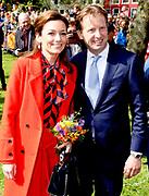 Koningsdag 2018 in Groningen / Kingsday 2018 in Groningen.<br /> <br /> Op de foto: Prins Floris en Prinses Aimee
