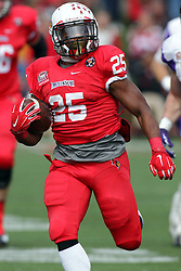 03 October 2015:  Marshaun Coprich(25) emerges from the middle of the line heading for the goal line. NCAA FCS Football between Northern Iowa Panthers and Illinois State Redbirds at Hancock Stadium in Normal IL (Photo by Alan Look)