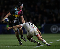 Harlequins' Stephan Lewies in action during todays match<br /> <br /> Photographer Bob Bradford/CameraSport<br /> <br /> European Rugby Heineken Champions Cup Group C - Harlequins v Ulster - Friday 13th December 2019 - Twickenham Stoop - London<br /> <br /> World Copyright © 2019 CameraSport. All rights reserved. 43 Linden Ave. Countesthorpe. Leicester. England. LE8 5PG - Tel: +44 (0) 116 277 4147 - admin@camerasport.com - www.camerasport.com