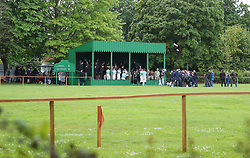 """A park in Altrincham, Manchester is transformed into a Victorian football ground for a match between Darwen v Old Etonian as filming for """"The English Game"""" which is a new drama by """"Downton Abbey """" creator Julian Fellowes begins. The drama is about how modern day football grew and how the FA was formed.."""