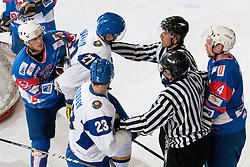 Roughing between players at ice-hockey match between Slovenia and Kazahstan, on April 12, 2011 at Hala Tivoli, Ljubljana, Slovenia. (Photo By Matic Klansek Velej / Sportida.com)