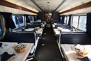 Restaurangvagnen på ett Amtraktåg, USA<br /> <br /> Foto: Christina Sjögren