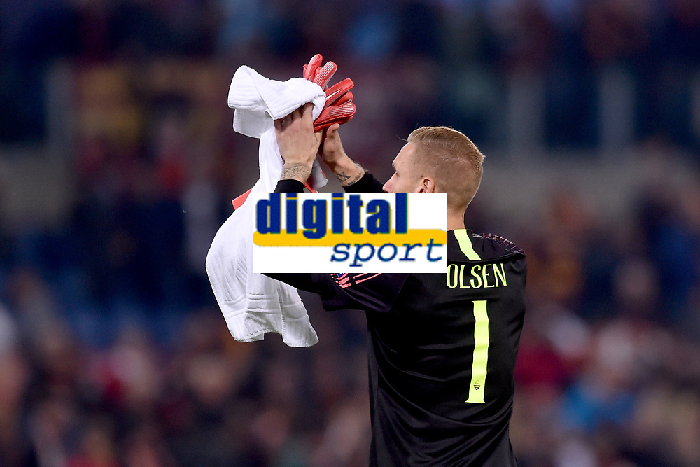 Robin Olsen Roma<br /> Roma 23-10-2018 Stadio Olimpico<br /> Football Calcio UEFA Champions League 2018/2019, Group G. <br /> AS Roma - CSKA Moscow<br /> Foto Antonietta Baldassarre / Insidefoto