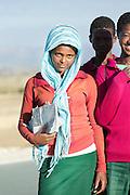 Portrait of school children near Adigrat, Tigray Region. Ethiopia, Horn of Africa