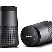 A studio product shoot, photography a Bose wireless speaker on a white background for advertising across different media.