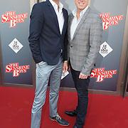 NLD/Amsterdam/20150412 - Inloop premiere The Sunshine Boys, Maurice Wijnen en partner Ronald den Ouden