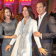 NLD/Amsterdam/20151001 - 25 Jaar Goede Tijden Slechte Tijden, Eric Vogel, partner Caroline de Bruin en Marjolein Keuning