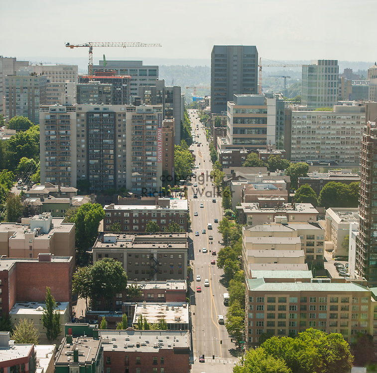 2018 JUNE 19 - View of Boren Ave and First Hill, Seattle, WA, USA. By Richard Walker