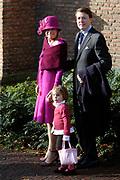 Hare Koninklijke Hoogheid Prinses Alexia, de jongste dochter van Zijne Koninklijke Hoogheid de Prins van Oranje en Hare Koninklijke Hoogheid Prinses Máxima, is zaterdag 19 november 2005 gedoopt in de Dorpskerk in Wassenaar. <br /> <br /> Baptism of Princess Alexia, the youngest daughter of Prince Willem-Alexander and Princess Máxima. Princess Alexia (born June 26, 2005) has been baptized in the church in Wassenaar. The ceremony was attended by The Dutch Royal Family and the parents of Princess Máxima.  <br /> <br /> Op de foto / On the photo:<br /> <br /> <br /> Zijne Koninklijke Hoogheid Prins Constantijn der Nederlanden, Hare Koninklijke Hoogheid Prinses Laurentien der Nederlanden, Eloise Gravin van Oranje-Nassau, Jonkvrouwe van Amsberg en Claus-Casimir Graaf van Oranje-Nassau, Jonkheer van Amsberg <br /> <br /> His royal highness prince Constantijn of the The Netherlands, her royal highness princess Laurentien of the The Netherlands, Eloise gravin of Oranje-Nassau, Jonkvrouwe of Amsberg and Claus-Casimir earl of Oranje-Nassau, esquire of Amsberg
