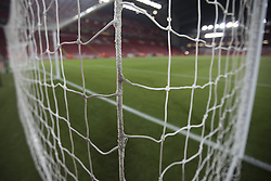 Halbfinale im Liga-Pokal Liverpool vs Leeds 1:0 in Liverpool / 291116<br /> <br /> ***LIVERPOOL, ENGLAND 29TH NOVEMBER 2016:<br /> The goal net is seen before the English League Cup soccer match between Liverpool and Leeds at Anfield Stadium in Liverpool England November 29th 2016***
