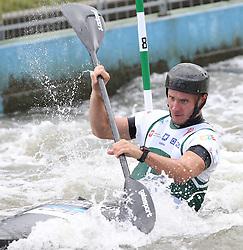 July 1, 2018 - Krakow, Poland - 2018 ICF Canoe Slalom World Cup 2 in Krakow. Day 2. On the picture: VIT PRINDIS (Credit Image: © Damian Klamka via ZUMA Wire)
