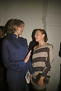 Bodil Blain and  Stella McCartney, VIP opening of Bill Viola exhibition Love/Death: The Tristan project. Haunch of Venison, St Olave's College, Tooley St. London and Dinner afterwards at Banqueting House. Whitehall. 19 June 2006. ONE TIME USE ONLY - DO NOT ARCHIVE  © Copyright Photograph by Dafydd Jones 66 Stockwell Park Rd. London SW9 0DA Tel 020 7733 0108 www.dafjones.com