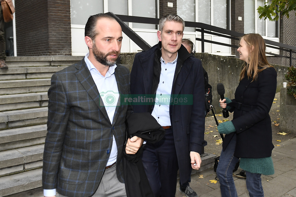 October 26, 2018 - Tongeren, BELGIUM - Lawyer Bert Partoens and lawyer Pieter Helsen pictured at a session at the Antwerp Court with the appearance of eight suspects in the football fraud case, Friday 26 October 2018. Several suspects in a large investigation into tax evasion, money laundering and possible match fixing in Belgian first division soccer competition were arrested in 'Operatie Propere Handen' (Operation Clean Hands)...BELGA PHOTO DIRK WAEM (Credit Image: © Dirk Waem/Belga via ZUMA Press)