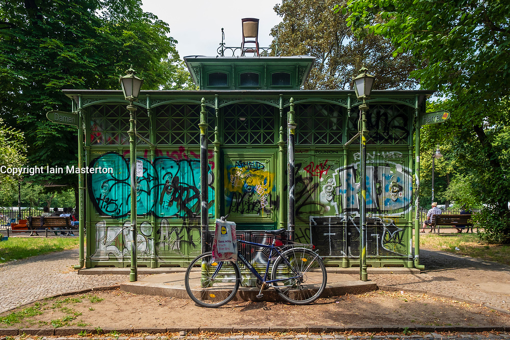 Old pavilion in Boxhagener Platz in Friedrichshain , Berlin, Germany